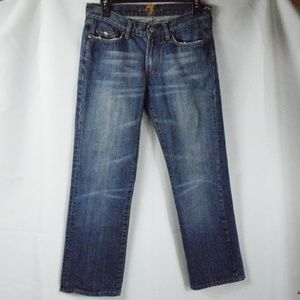 7 For All Mankind Straight Leg Blue Jean SZ 30